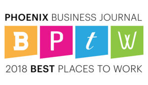 Phoenix Business Journal 2018 Best Places to Work Winner