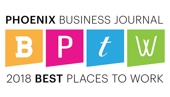 Phoenix Business Journal 2018 Best Places to Work Winner