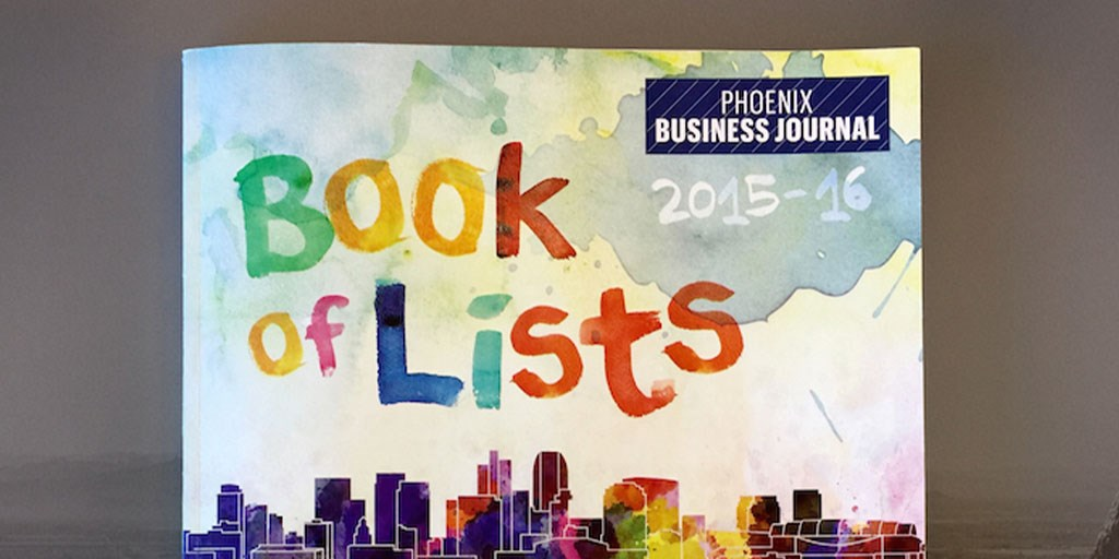 Phoenix Business Journal Book of Lists 2015-2016 I-ology