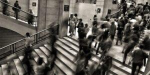 People in Busy Office Buildings