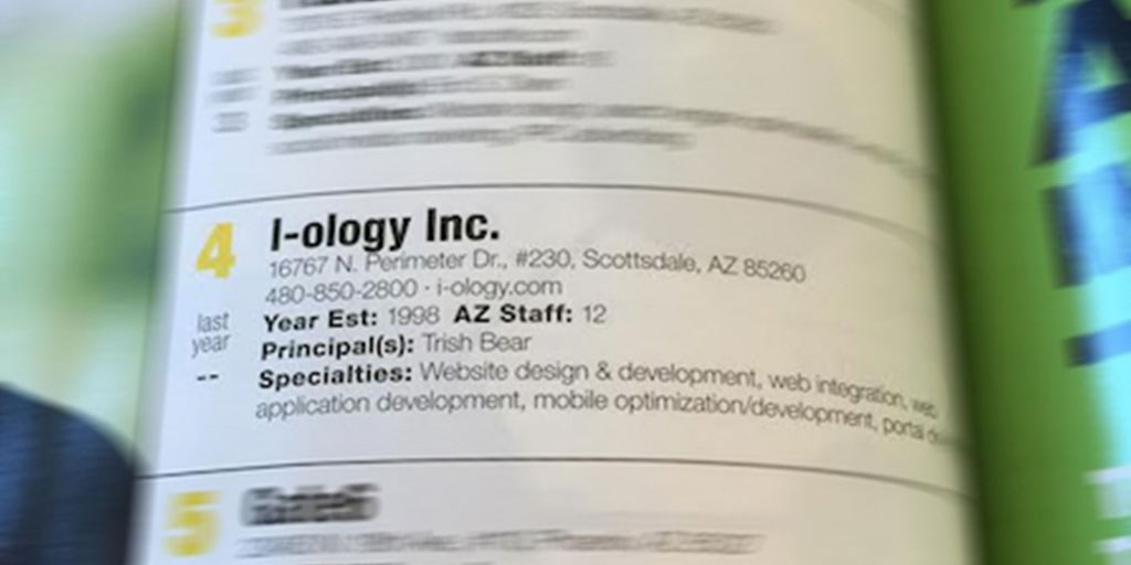 I-ology Ranking Arizona