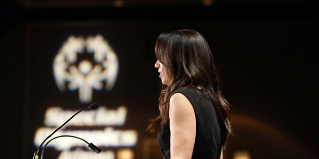 Trish Bear Speaking at Special Olympics Arizona Breakfast with Champions